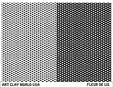 Fleur De Lis Low Relief Texture Plate 5 5x4 25
