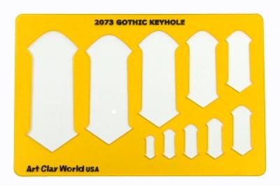 designer template gothic keyhole 5 5 x8